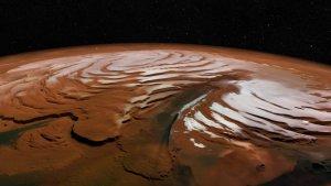 Снег на Марсе, есть ли снег на Марсе, поверхность марса